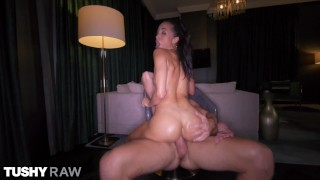 TUSHYRAW Petite Alexis gets her tight little ass filled up