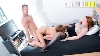 ReifeSwinger - Big Tits German Matures Share Big Cock In Hot Threesome - AMATEUREURO