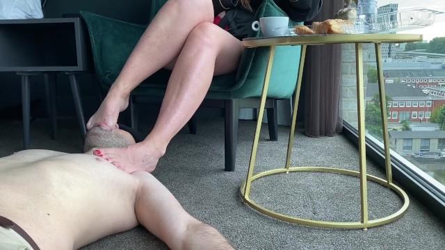 Breakfast Foot Worship Session with Ysmnsfeet aka DeliciousDutchfeet - Foot Fetish Feet gagging 16
