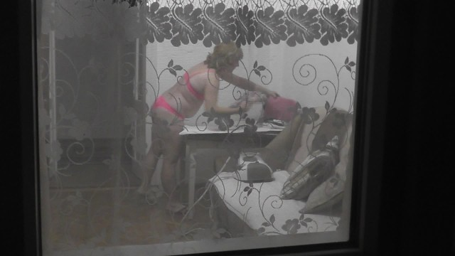 Wife Visiting Stepdad. Naked Ironing Clothes without being Ashamed Of . Nudism