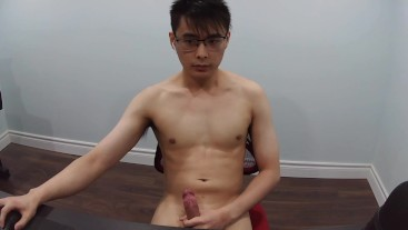 cute asian guy caught on webcam