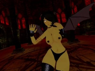 POV dance from a demon VRChat