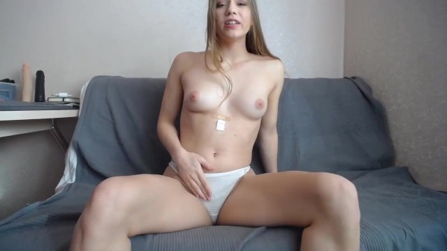 Flexible girl masturbating with legs behind head after riding dildo and squirting 16