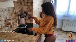 Latika Jha - LJ_015 - Asian / Indian Teen with Huge Boobs Gettin Fucked in her Kitchen / Amateur
