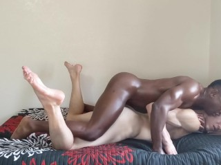 Oiled up massage muscle hunk anal fuck bbc...
