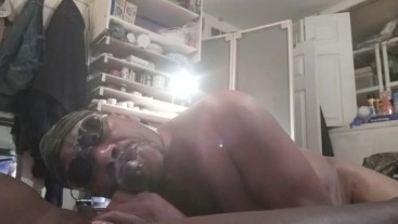 Deep throat fucked by Daddy