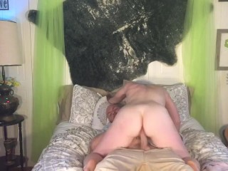 Husbands Huge Cock Destroys His Bunnie Tight Little Pussy