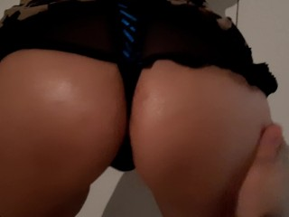 She shows me ass gives me a handjob...