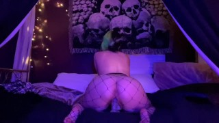 BigTittyGothEgg jiggling and playing with my wet pussy