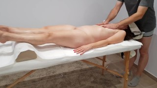 Full body massage turned into a hard doggy style fucking and injection into my pussy