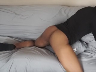 Humping grinding and moaning on the couch...