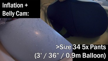 WWM - Size 34 5x Pants 3' Balloon Inflation