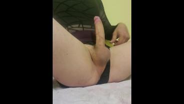 Big Cock CD Cumshot from Sissy Trap Vanessa Kells
