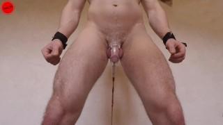 Guy goes CRAZY while Fucking Machine stimulates his Prostate - chastity orgasm denied (trailer)