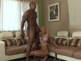 Hot blonde with soaking dick...