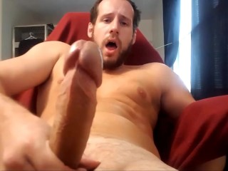 Chaturbate models huge cock edged at full erection...