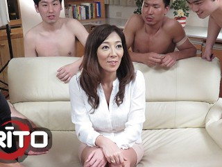 Erito girl getting pounded in gangbang...