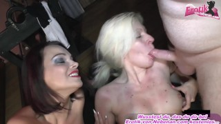 german blonde milf sexparty with huge cum loads
