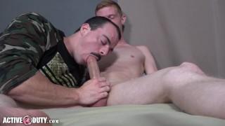 ActiveDuty - Big Cock Military Hunks Alex James & Jesse Nice