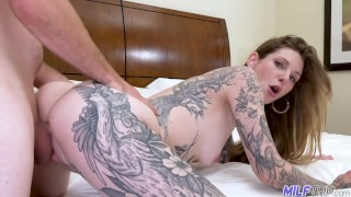 Inked Up Lonely Divorced Wife Fucked