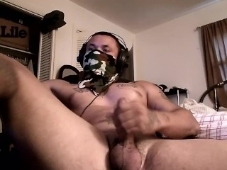 Thug jacking off on webcam...