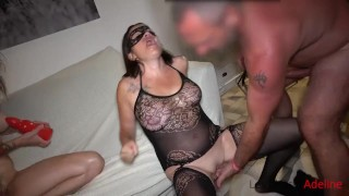 Extreme Fisting ! Adeline double fisted, hard sex and fist party with pervert couple