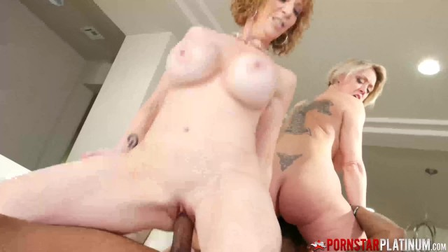 PORNSTARPLATINUM Cougars Dee Williams and Sara Jay Blacked By Shaun Dam 15