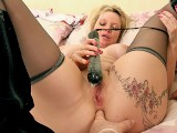 Randy older man ass fingering and using a pussy pump on the Nurse