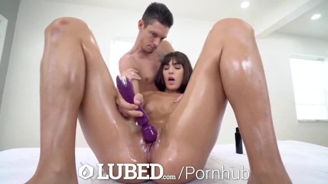 LUBED Hot Babes Finger Fucked & Suck Big Dicks 8