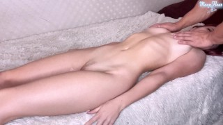Masseur Passionate Fucking Sexy Babe after Massage - Facial