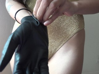 Trying On Leather Gloves – Safe for work?