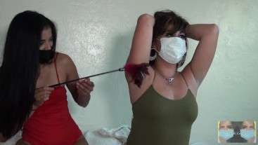 Handcuffed Tickling Torture With Roxy Summers + Viva Athena