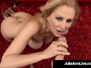 Beautiful Busty Mommy Julia Ann Drains A Lucky Hard Cock!