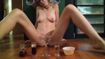 Pussy drink with piss