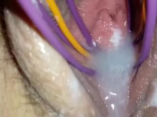 Lesbisch Muschi Eating Close Up