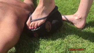 Mistress Krush - Walking All Over You (Sadistic Queens) - CBT Trampling
