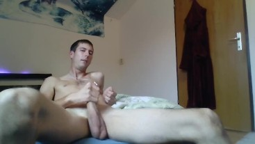 Jerking off to porn
