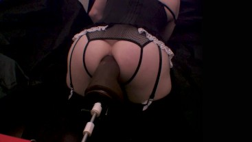 Black Owned Sissy Maid Hooked up to a BBC Machine and Destroyed