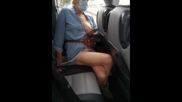 Crossed legs orgasm in public bus