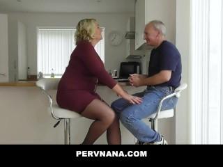 Plump GILF Fucks Her Husbands Brother