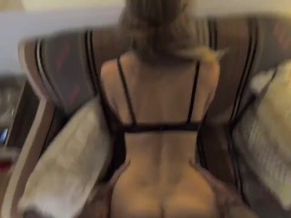 Sexy ass babe gets rough doggy style fucking from her boyfriend