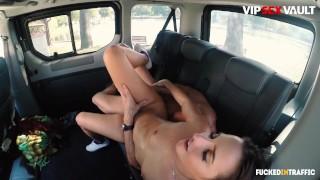FuckedInTraffic - Amirah Adara Kinky Hungarian Babe Seduces And Fucks Muscular Driver - VIPSEXVAULT