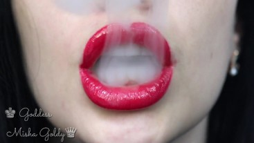 Cum to My Big RED seduction and big hookah smoke!