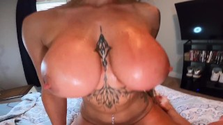 Fit Girl Makes Me Cum 3 Times On Her Ass, Tits, And Face!! BradAndBabe
