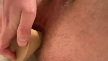 Dildo pleasure fuck after being bred