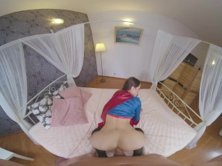 Brunette Teen Sybil A As SUPERGIRL Making Up After Forgetting Anniversary