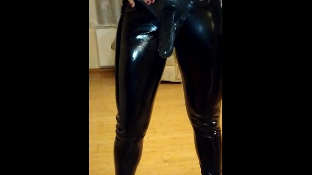 Latex,PVC,mistress luxory Katrix with strapon dirty talk..hot 4