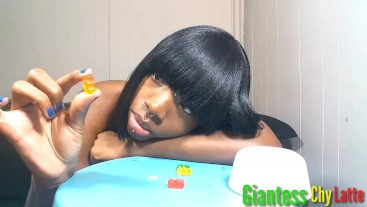Erotic Ebony Giantess Chy Latte Gummy Blow Job