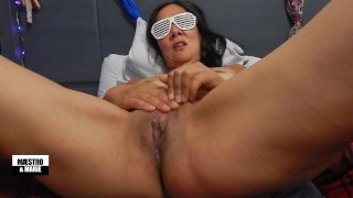 Amateur Asian rubs her clit and pussy closeup until she cums