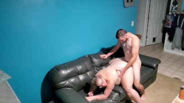 Curvy Blonde Loves Riding on the Couch